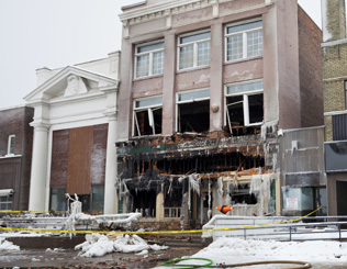Commercial Fire Damage Cleanup & Restoration in Metro Detroit MI - comm-fire