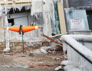 Commercial Ice Damage Property Restoration Metro Detroit Michigan   - comm-ice