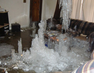 Residential Ice Damage Restoration Metro Detroit Southeast Michigan   - icedamage